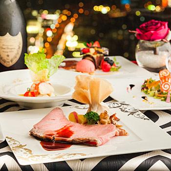 トップオブヨコハマのクリスマスディナー
