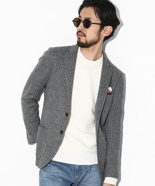 グレーのテーラードジャケットを使った着こなし方