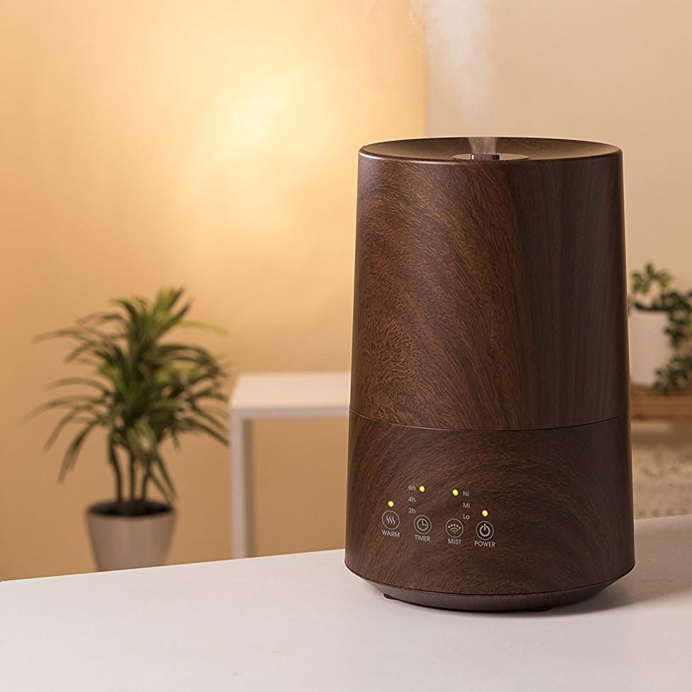 木目のハイブリット式のおすすめのおしゃれ加湿器