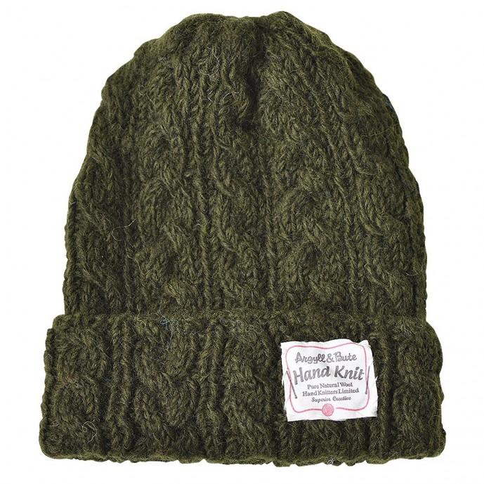 ニット帽 ケーブル編み