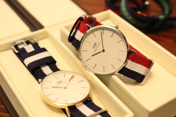 ペアウォッチが魅力のダニエルウェリントンの時計