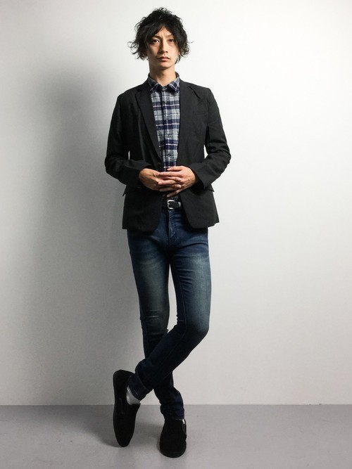 ジャケット×シャツのスタイル