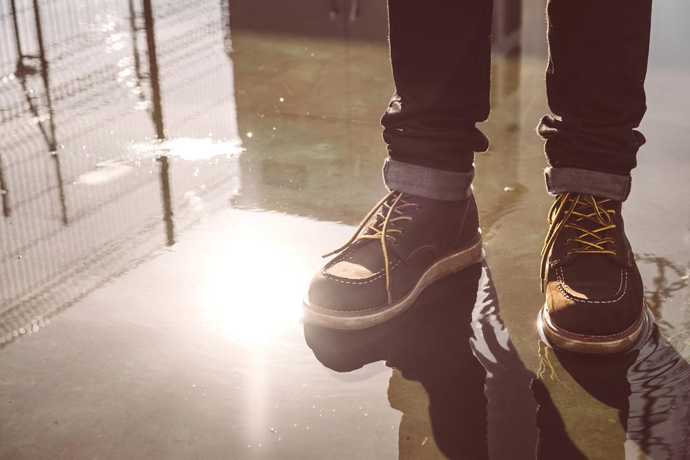 雨で濡れた靴の対処法