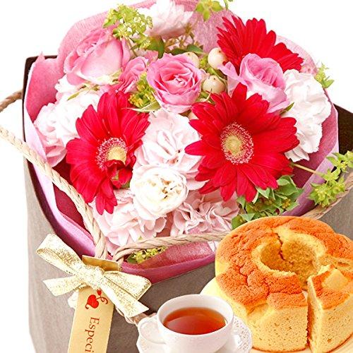 母の日の紅茶ギフトは紅茶と花のセット
