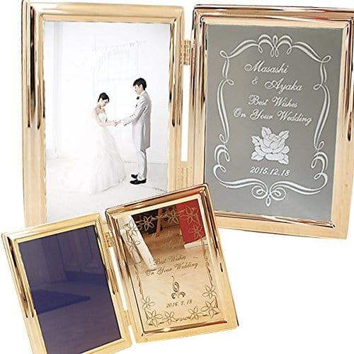 両親への結婚式プレゼントは名入れと日付刻印ができるフォトフレームを