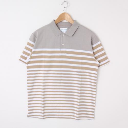 ポロシャツ ボーダー メンズ トップス【洗濯済】