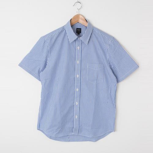 半袖柄シャツ ストライプ メンズ トップス【洗濯済】