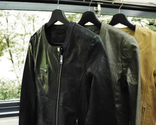 値下げしました【ZOZOで有名セレクトショップ系ブランド】新品 本革 ノーカラーレザージャケット / 訳あり