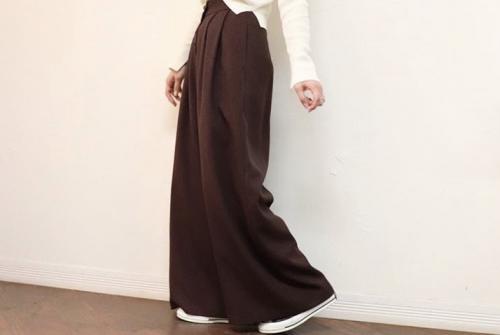 2tuck wide pants
