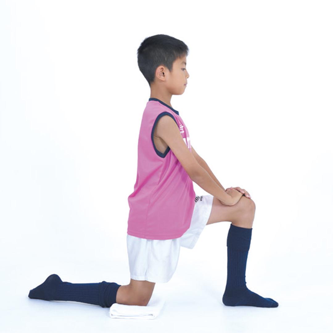 ケガ予防トレーニング②オスグッド病の予防にも!もも前ストレッチ