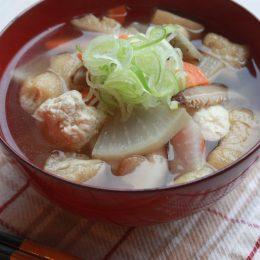 サカママレシピ ―根菜たっぷり♪だしいらずのけんちん汁―