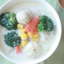 サカママレシピ ―鶏だんごのホワイトシチュウ―