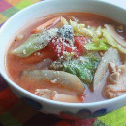 サカママレシピ ―トマト豚汁―