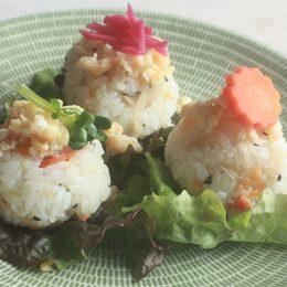 サカママレシピ ―切り干し大根の手まり寿司風―