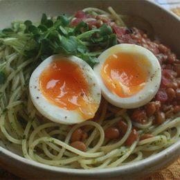 サカママレシピ ―カラフル☆納豆スパゲティ―