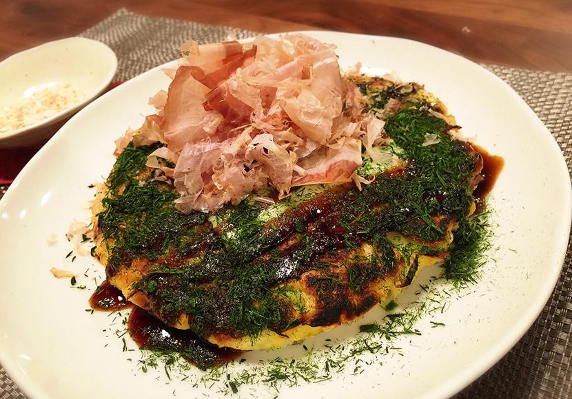サカママレシピ ―桜エビと豆腐入のお好み焼き―