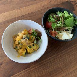 タンパク質カルシム入り✤チーズ風味のカボチャサラダ
