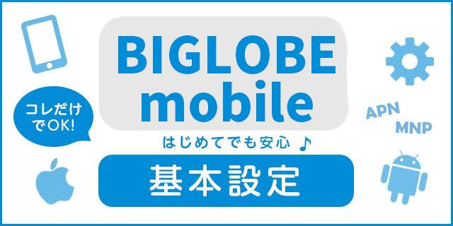 【完全ガイド】BIGLOBEモバイル買ってすぐの基本設定はこれだけでOK!