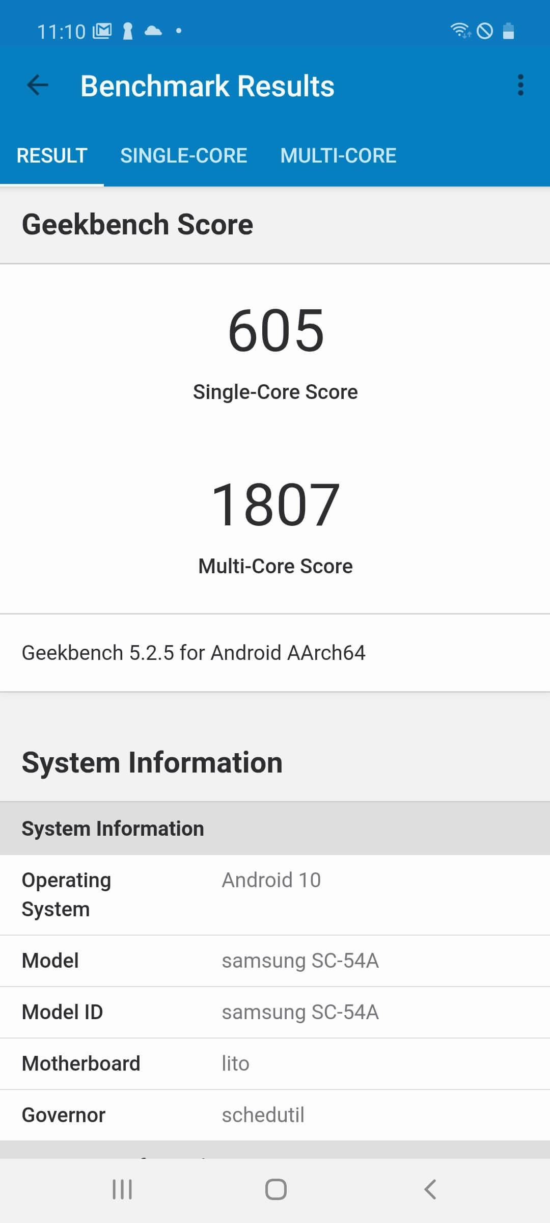 Galaxy A51 5Gのベンチマークスコア