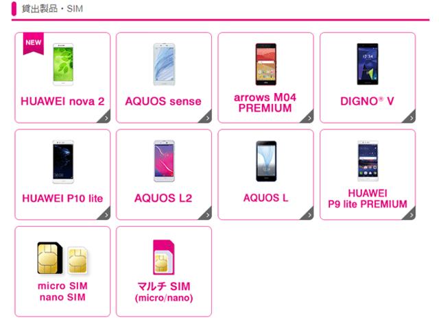 Try UQ mobile 貸出製品・SIM
