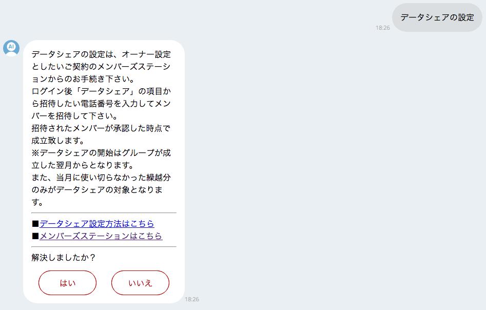 楽天モバイル チャット bot