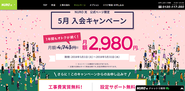 NURO光 キャンペーン