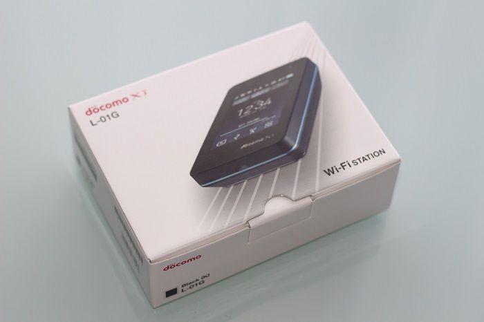 ドコモのモバイルWi-Fiルーター「Wi-Fi STATION L-01G」