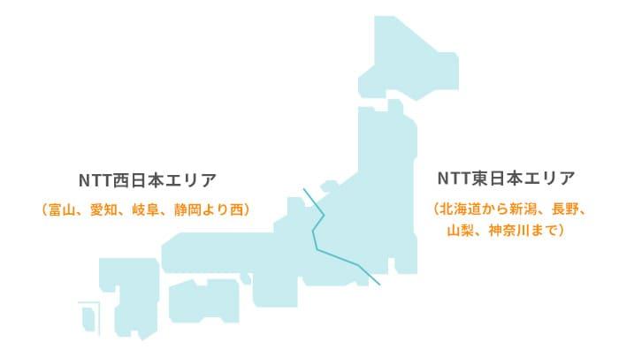 NTT西日本・東日本の区切り