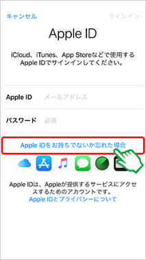 mineo「Apple ID設定」