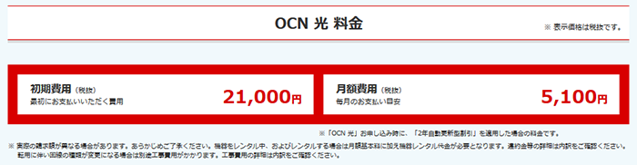 OCN 光「OCN 光 お申し込み(OCN 光)   NTTコミュニケーションズ 個人のお客さま」