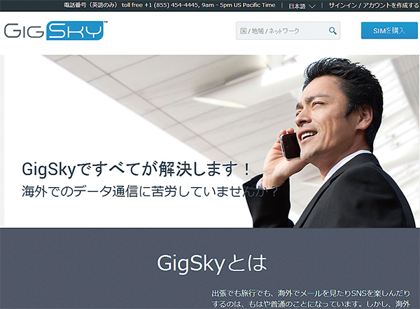「Gigsky」の販売サイト