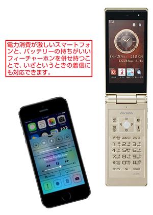 電力消費が激しいスマートフォンと、バッテリーの持ちがいいフィーチャーホン
