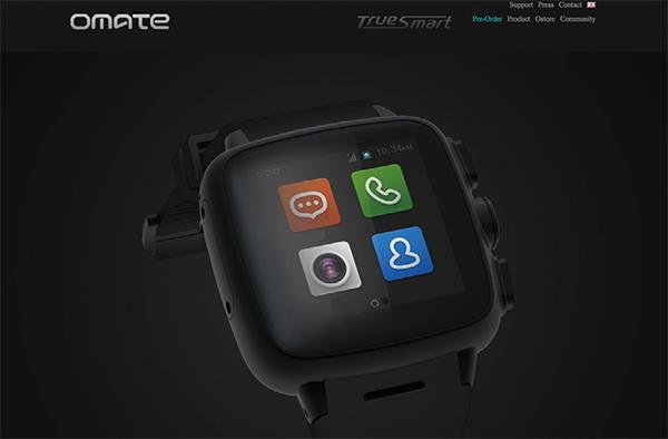 腕時計型スマホの「Omate TrueSmart」