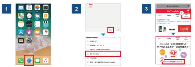 Y!mobile「ワイモバイルスマホサービス初期設定方法」①