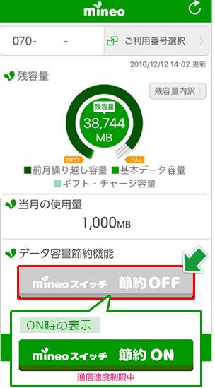 mineo「mineoスイッチについて」