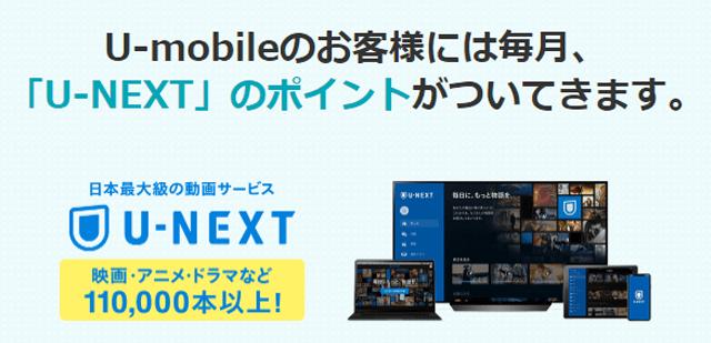 U-mobile U-NEXTポイント