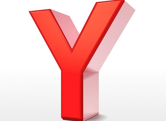 赤い立体のYの文字