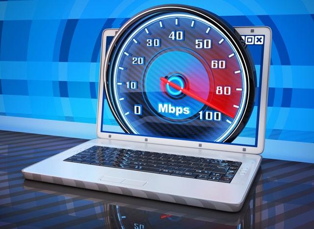 パソコンの速度メーターの様子