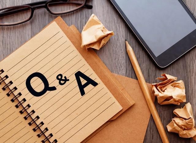 ノートに書かれたQ&Aの文字