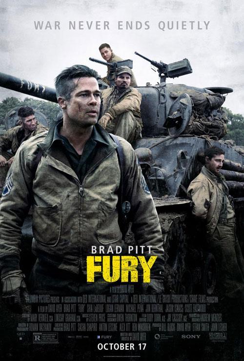 卓越した戦車の戦術をもっている古参兵と新兵の悲哀が描かれる「フューリー」