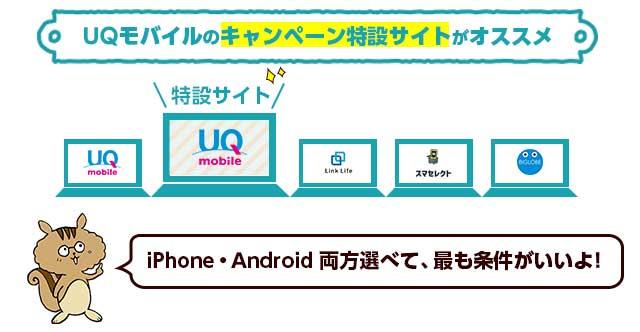 auからUQモバイルへお得に乗り換えるための申し込み先まとめ