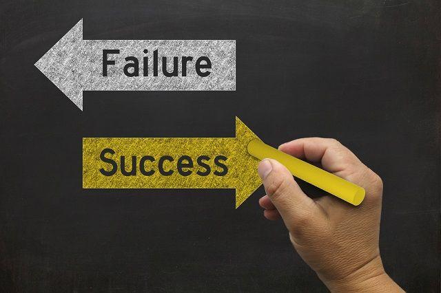 「Failure]と「Success]の標識と手