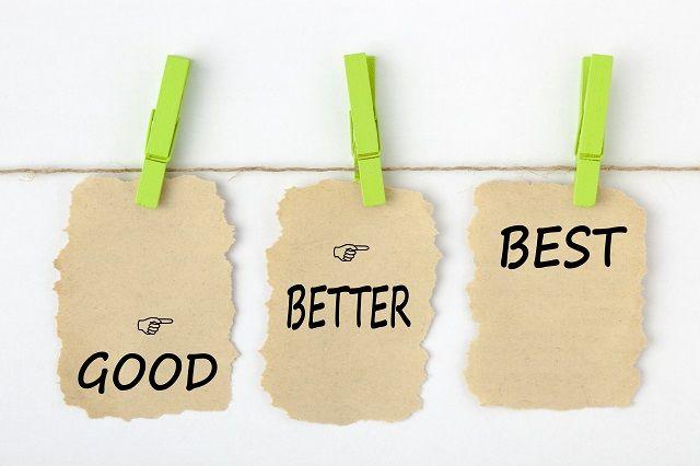 「GOOD」「BETER」「BEST」