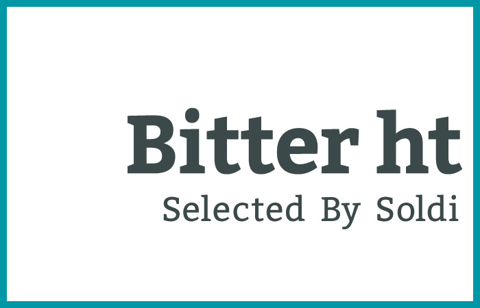 スラブセリフの力強さと骨格の素直さを良いバランスで持っている「BItter ht」