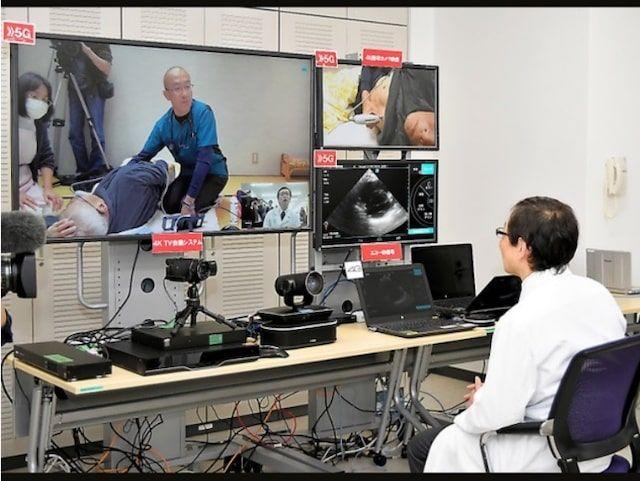 朝日新聞DIGITAL「遠隔診療、5Gでエコーも精細に 超高速通信の実証実験」