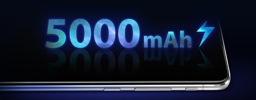 5,000mAhの超大容量バッテリーの画像