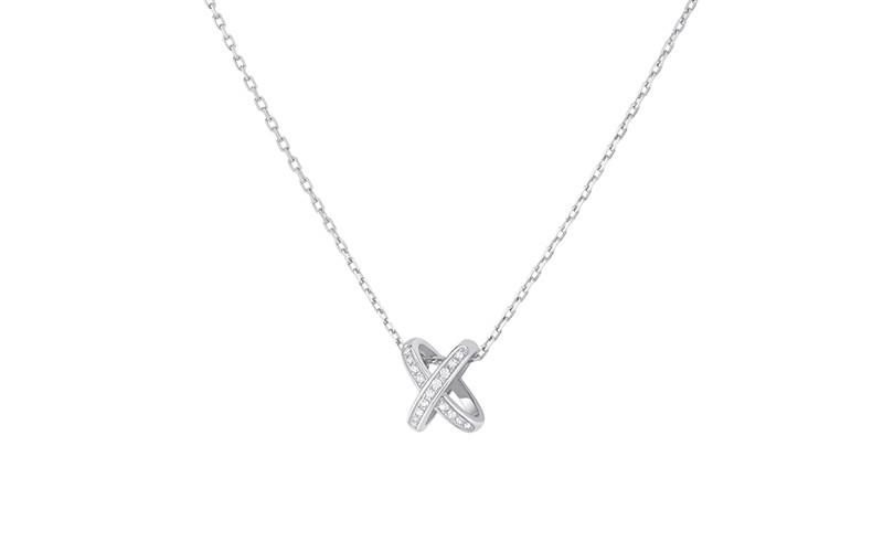 「リアン・ドゥ・ショーメ」プルミエ・リアン ペンダント(WG×ダイヤモンド)¥275,000