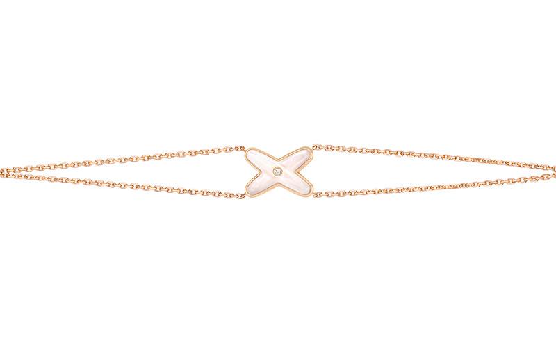 「リアン・ドゥ・ショーメ」 ジュ・ドゥ・リアン ブレスレット(PG×ダイヤモンド×マザーオブパール)¥120,000