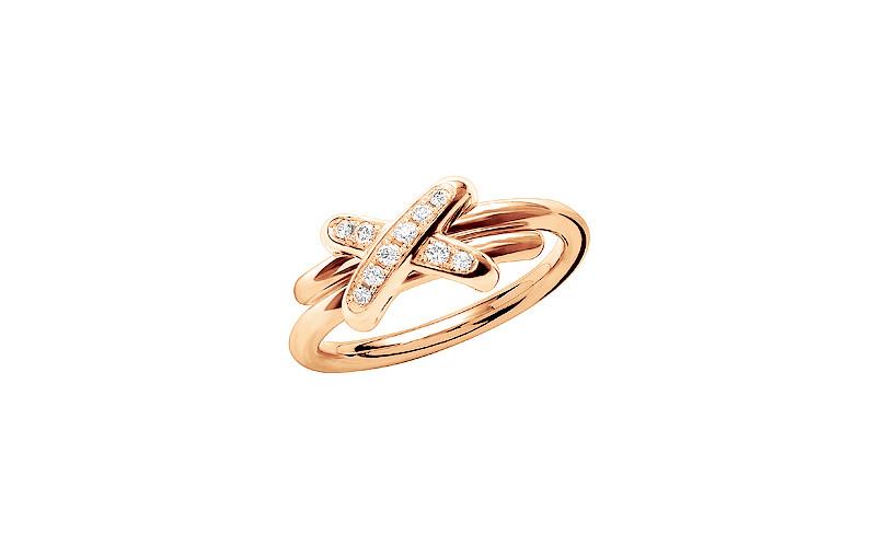 「リアン・ドゥ・ショーメ」プルミエ・リアン リング(PG×ダイヤモンド)¥255,000/ショーメ