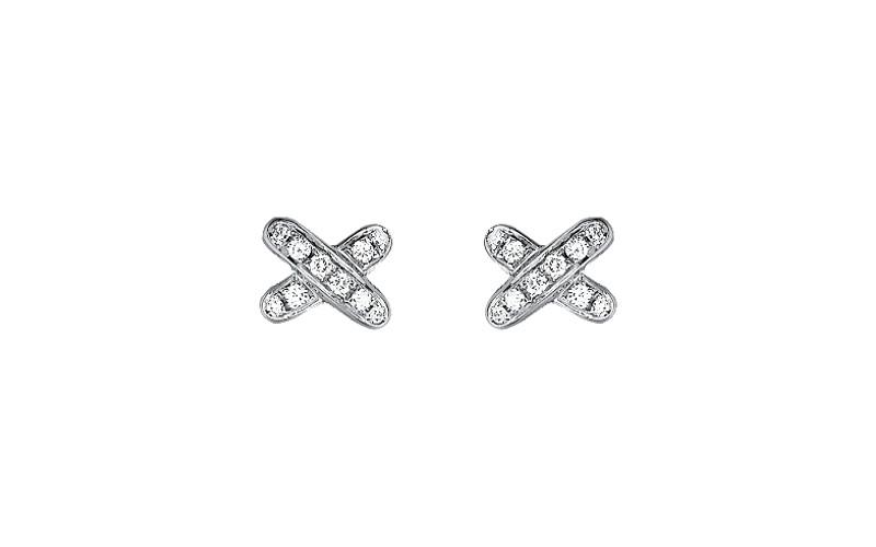 「リアン・ドゥ・ショーメ」 クロスリアン スタッズ(WG×ダイヤモンド)¥360,000/ショーメ